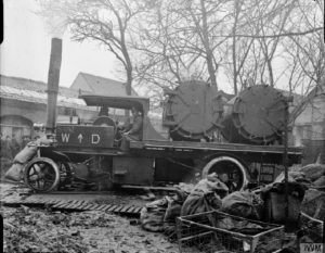 Foden disinfecting lorry at Corbie, 15th January, 1917