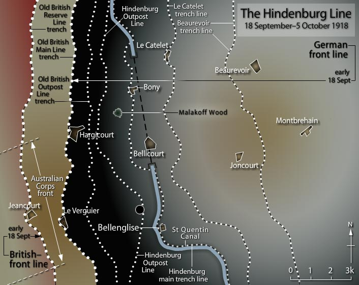 Hindenburg Line Breached - October 5th  1918